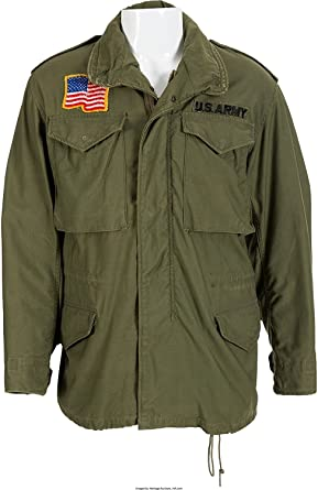 Mens USA Commando Military US Army Green Cotton Jacket  34ffc2a69e9