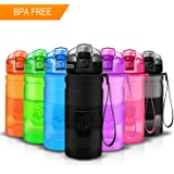 ZORRI Sports Water Bottle, 400ml/500ml/700ml/1L,BPA Free Leak Proof Lid Flip Top, Eco-Friendly Drink Bottles, Reusable Hydrate Bottles with Filter,Open with 1-Click For Kids/Women Gym/Outdoors,Running