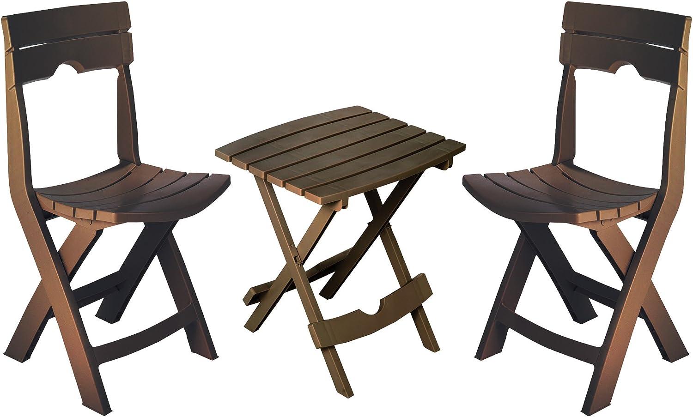 Adams Manufacturing 8595-60-4731 Quik-Fold Conversation Set, Earth Brown