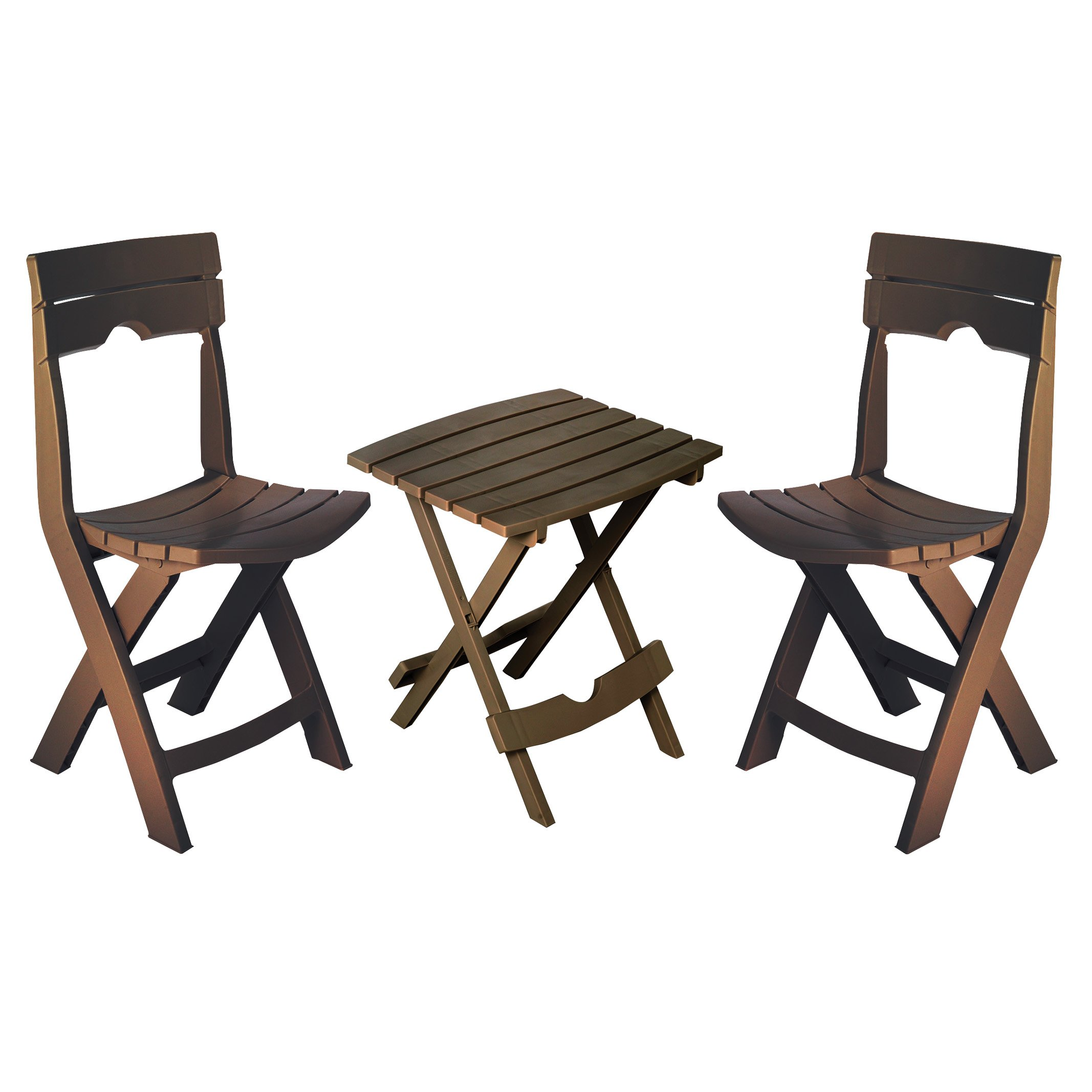Adams Manufacturing 8595-60-4731 Quik-Fold Conversation Set, Earth Brown by Adams Manufacturing