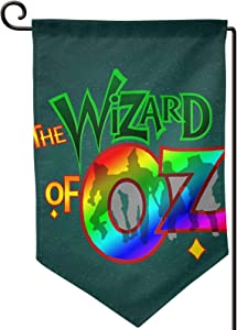 Qwtywqekeertyi The Wizard of OZ Home and Garden Flag Vertical Applique Flag Yard Flag Outdoor 12.5X18 in Black