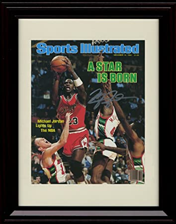 Amazon.com: Framed Michael Jordan Sports Illustrated Autograph ...