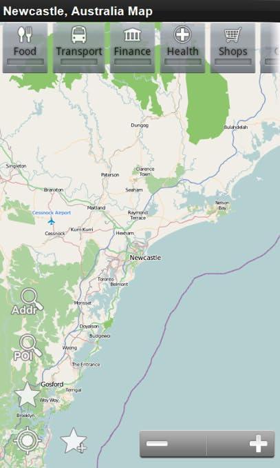 Australia Map Newcastle.Amazon Com Newcastle Australia Offline Map Place Stars Appstore