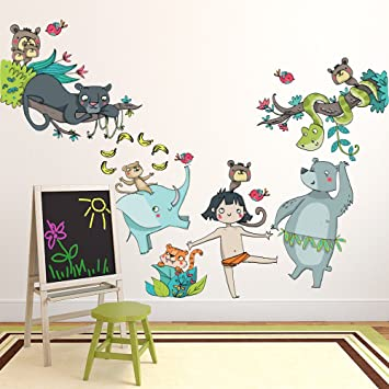 Kina R00410 Stickers Muraux Pour Enfants Imprime Sur Papiers Peints