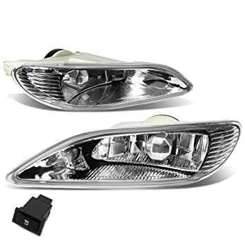 For Camry/Corolla Pair of Bumper Driving Fog Lights + Wiring Kit + Switch (Clear Lens)