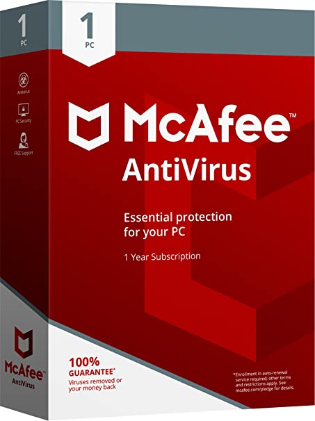 Image result for MCafee-Antivirus-one user