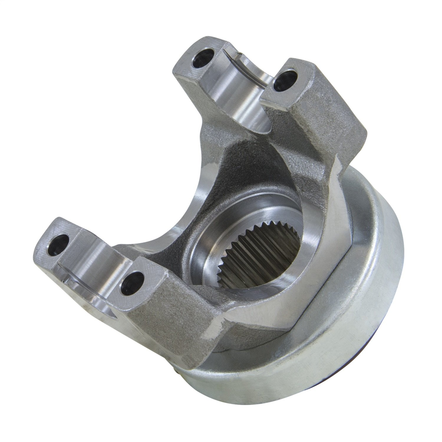 Yukon Gear & Axle (YY GM15579602) Yoke for GM 9.5 Differential with a 1350 U/joint size. 3.625'' snap ring span, 1.188'' cap diameter.