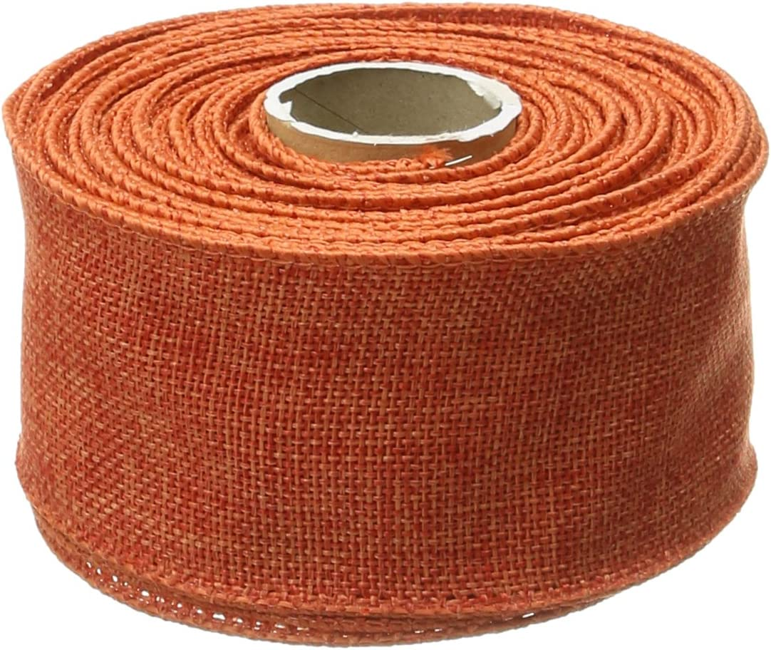 Pastel Brown Linen Look Wired Royal Burlap Ribbon  1.5 x 10 Yard Roll