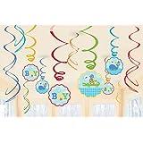 Ahoy Baby Hanging Swirl Decorations Shower Blue Boy Shower Birthday