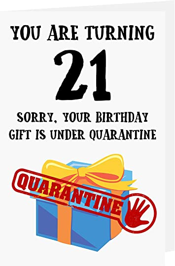 for my daughter for her 21st birthday greeting card Covid birthday BFF humour 21st Lockdown birthday card funny birthday card