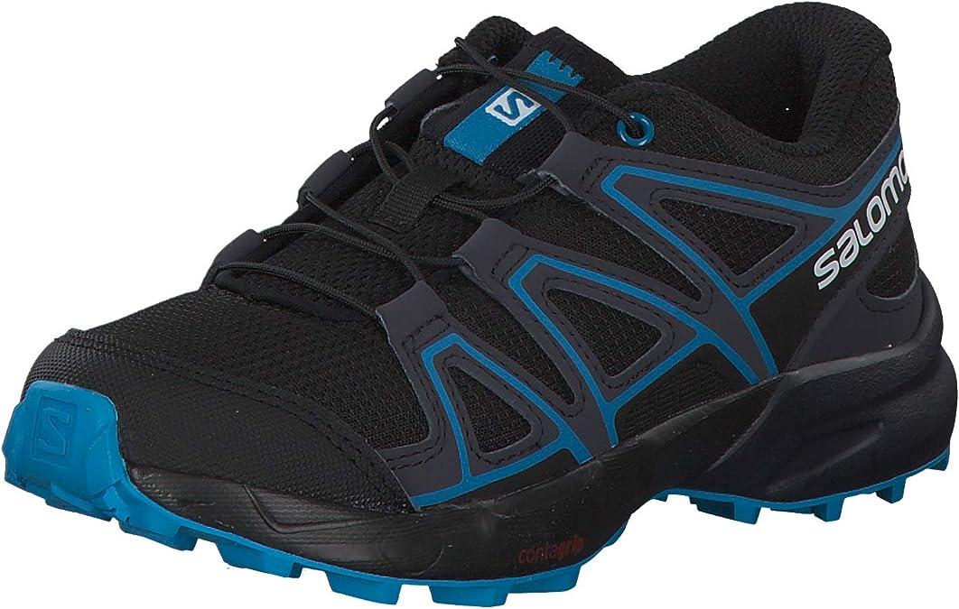 Black//Graphite//Hawaiian Surf 13 Child US Salomon Kids Speedcross J Trail Running Shoes