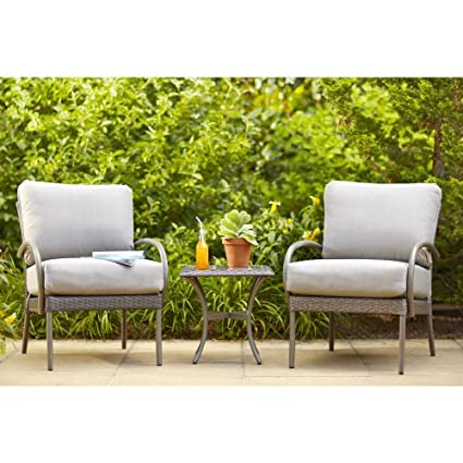 Amazon.com: Posada Patio Lounge Silla con Gray Cojín (2-Pack ...
