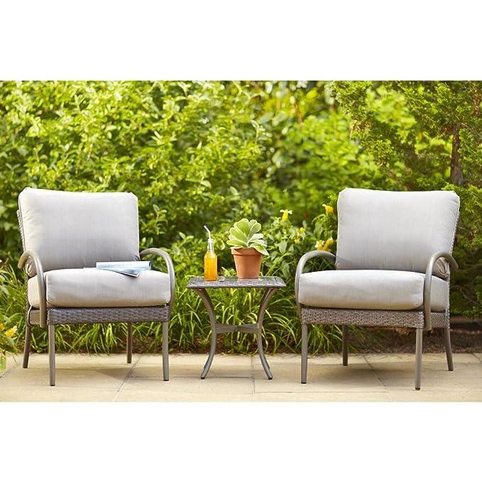 Amazon.com: Posada Patio Lounge Silla con Gray Cojín (2-Pack ...