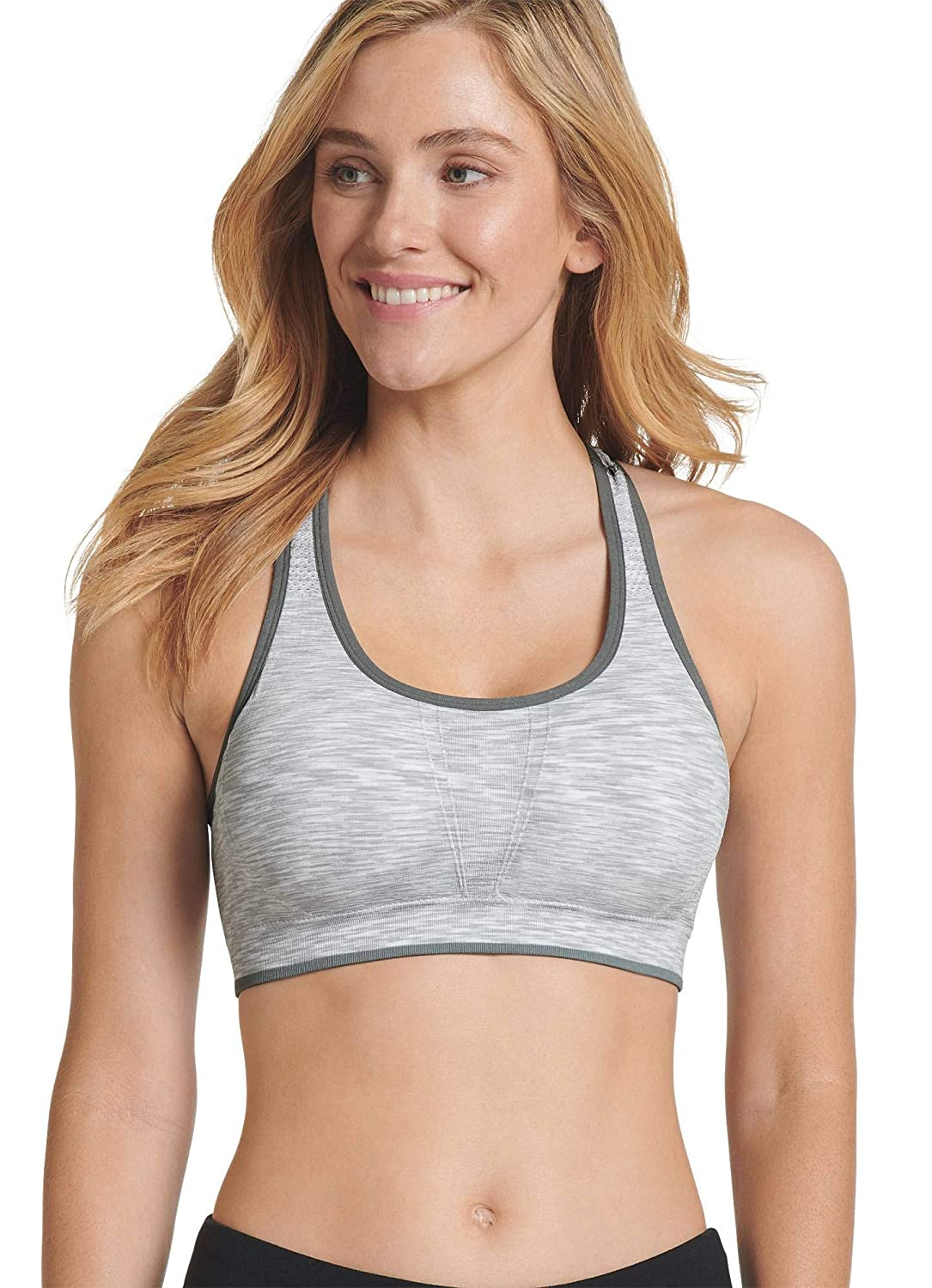 c8b9ca879a Jockey Women s Activewear Persistence Racerback Sports Bra at Amazon Women s  Clothing store