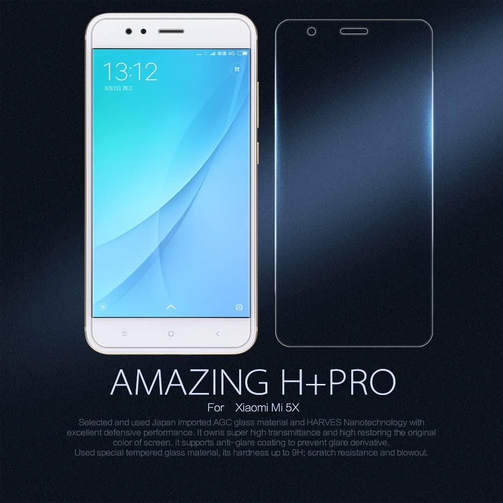 Nillkin Amazing H+ Pro - Protector de pantalla 9H con bordes curvos 2.5D cristal templado de 0,2mm para Xiaomi Mi 5X