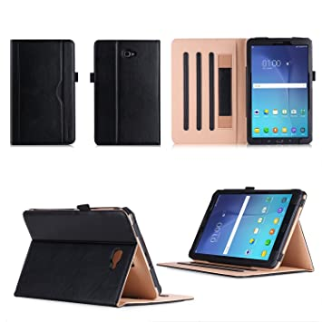 new styles 65e8f 8086c Samsung Galaxy Tab A6 10.1 Case,VOVIPO Premium Leather Cover Stand  Protective Folio Case For Samsung Galaxy Tab A6 10.1 T580/T585 With  Handstrap And ...