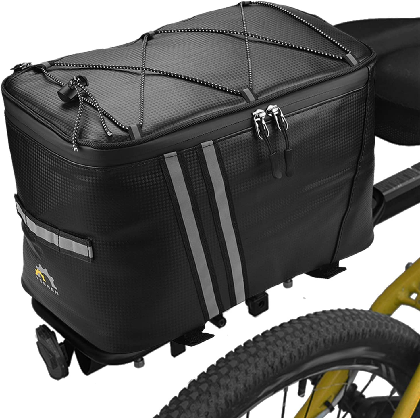 Lixada Bicycle Rack Rear Carrier Bag 12L Bike Trunk Bag with Thermal Insulation Waterproof Bike Storage Luggage Pannier Bag Without Rain Cover