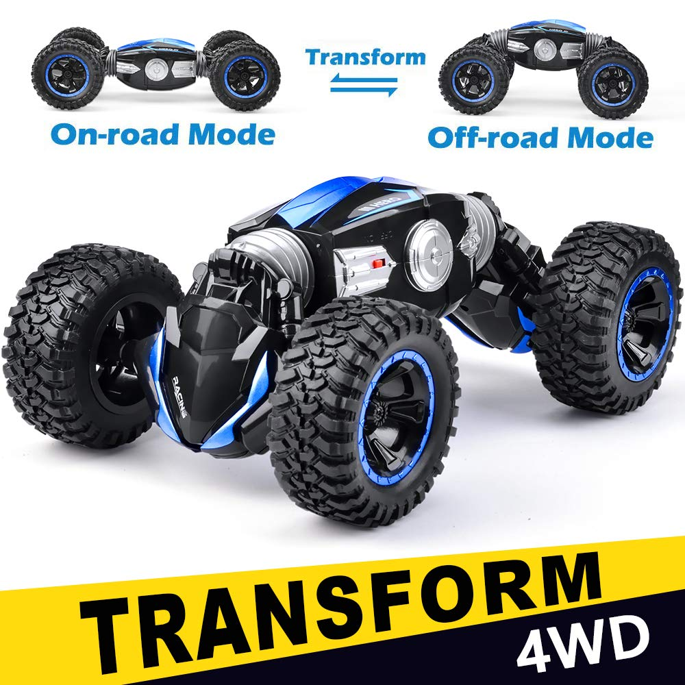 NQD RC Car Off-Road Vehicles Rock Crawler 2.4Ghz Remote Control Car Monster Truck 4WD Dual Motors Electric Racing Car, Kids Toys RTR Rechargeable Buggy Hobby Car by NQD