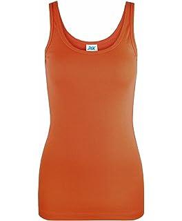 d06e98c8a9b JHK Ladies Summer 100% Cotton Vest Slim Fit Plain T-Shirt Women s Tank Tops