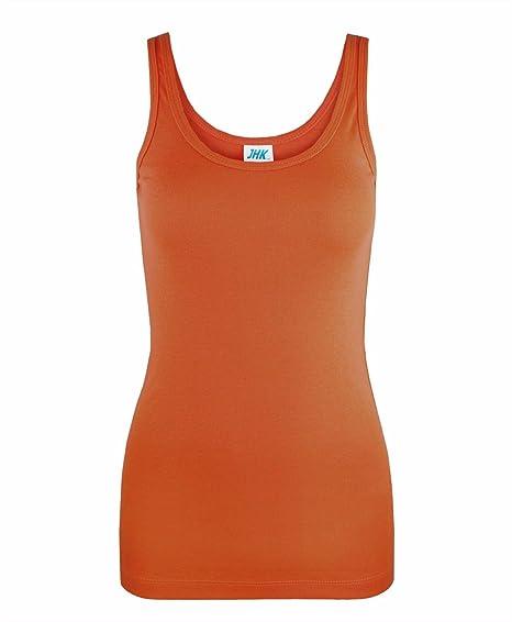 JHK - Camiseta sin Mangas - para Mujer Naranja Naranja Oscuro Small