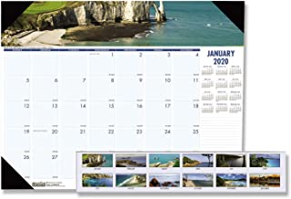 product image for House of Doolittle 2020 Monthly Desk Pad Calendar, Earthscapes Coastlines, 22 x 17 Inches, January - December (HOD178-20)
