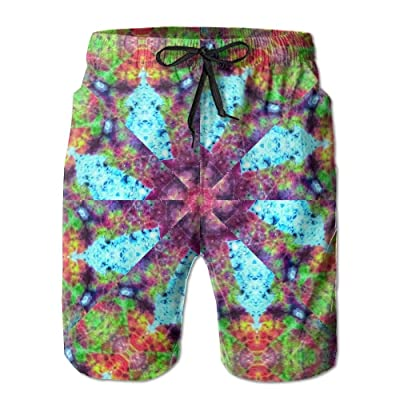 Men's Shorts Swim Beach Trunk Summer Kaleidoscope Trippy Acid Psychedelic Athletic Fashion Shorts With Pockets
