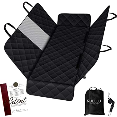 Kululu Dog Car Seat Cover for Back Seat - The Original Mesh Window Cover for Stress- Free Travel for Dogs with Anxiety - Backseat Hammock Style Protection for Cars Trucks and SUV - Patent