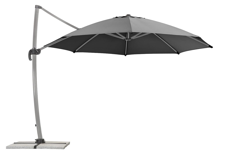 Schneider Sonnenschirm Rhodos Rondo, anthrazit, 350x350 cm rund, Gestell Aluminium, Bespannung Polyester, 22.4 kg