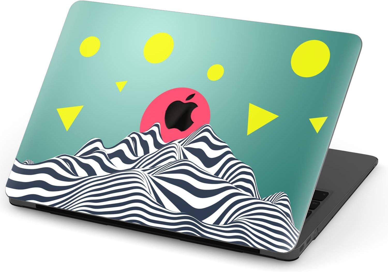 Mertak Hard Case for Apple MacBook Pro 16 Air 13 inch Mac 15 Retina 12 11 2020 2019 2018 2017 Cover Touch Bar Memphis Retro Plastic Geometric Clear Design Abstract Print Laptop Trippy Mountain