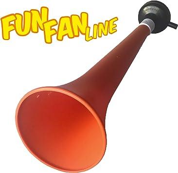 FUN FAN LINE - Pack x3 Trompetas Vuvuzela de plástico. Accesorio para fútbol y Celebraciones Deportivas. Bocina de Aire ruidosa para la animación. (Holanda): Amazon.es: Deportes y aire libre