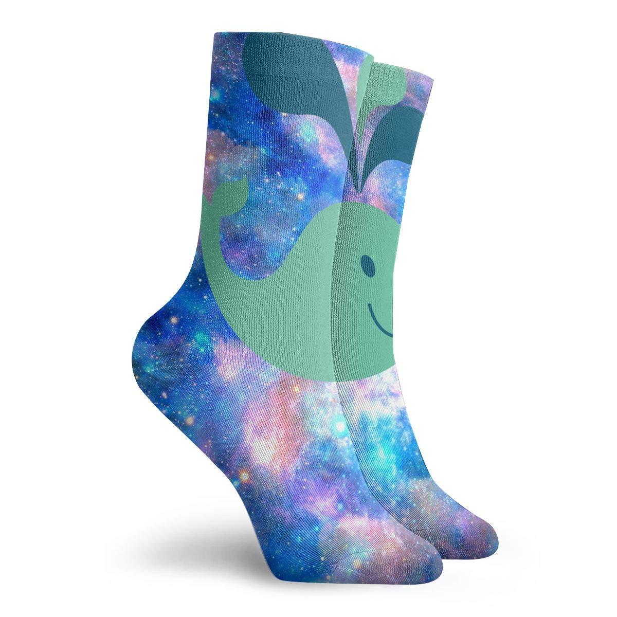 Whale Clip Art Fashion Dress Socks Short Socks Leisure Travel 11.8 Inch