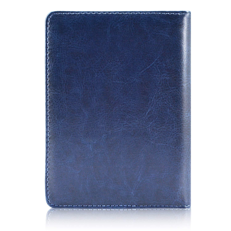 Passport Holder Cover, ACdream Travel Leather RFID Blocking Case Wallet for Passport, Dark Blue by ACdream (Image #7)