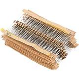 WINGONEER 560PCS 1/4W Watt 1% Carbon Film Resistors Assorted Kit Set 56 Values (1 ohm~ 10M ohm)