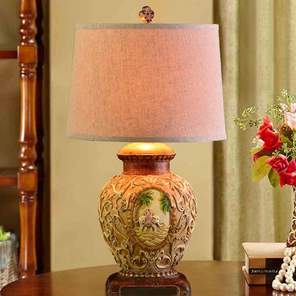 Hanlon E27-Schraubsockel, Tischlampe Kreative Europäische Stil Lampe Villa Hotel Wohnzimmer American Retro Hochzeit Beleuchtung ( farbe : Dimmschalter )