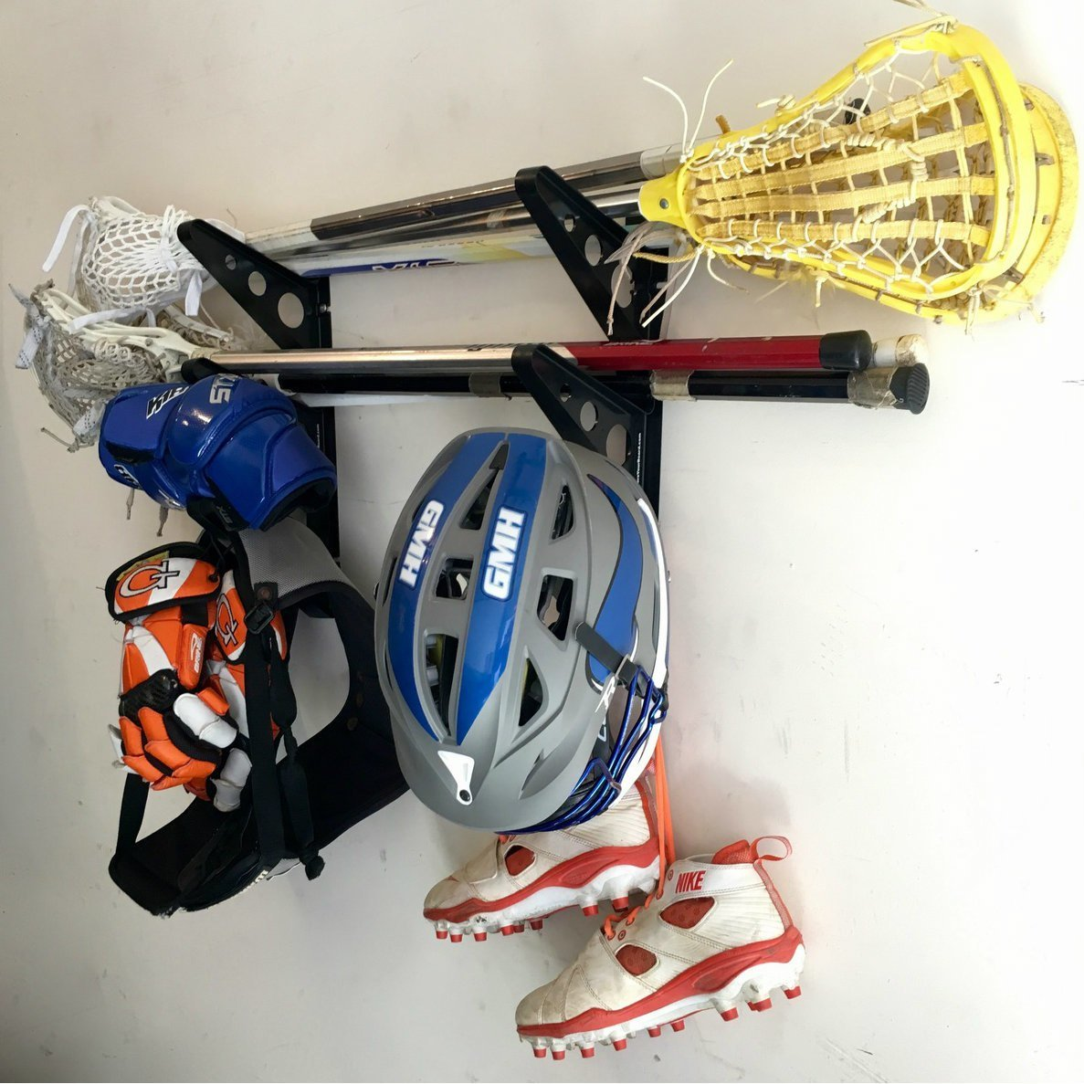 Lacrosse Stick Wall Storage Rack - Lax Sticks, Pads and Equipment Home & Garage Mount by StoreYourBoard (Image #4)