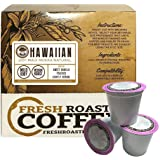 100% Maui Mokka Natural Single-Serve Capsules for Keurig K-Cup Brewers, Fresh Roasted Coffee LLC. (18 ct. cups)