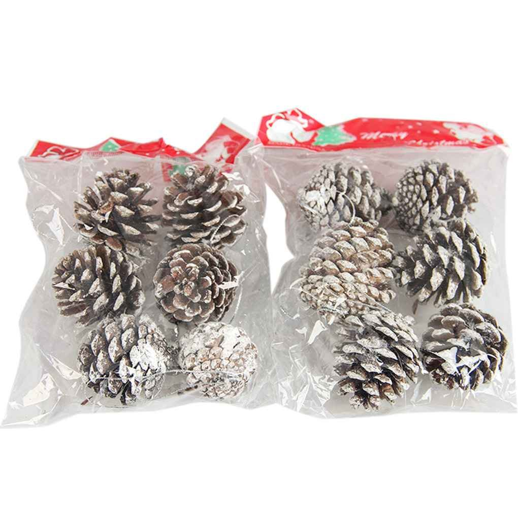 Windy5 6Pcs Natale Pigne Palline di Natale Decorazioni dell'albero Ornament Home Decor