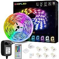 Tiras LED 5M, SHOPLED Luces LED RGB 5050 con Control Remoto de 44 Botones, 150 Tira LED 20 Colores 8 Modos de Brillo y 6…