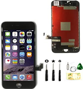 LCD Touch Screen Replacement for iPhone 7 Plus 5.5 Inch Digitizer Full Assembly Glass with Tool Kits in Black