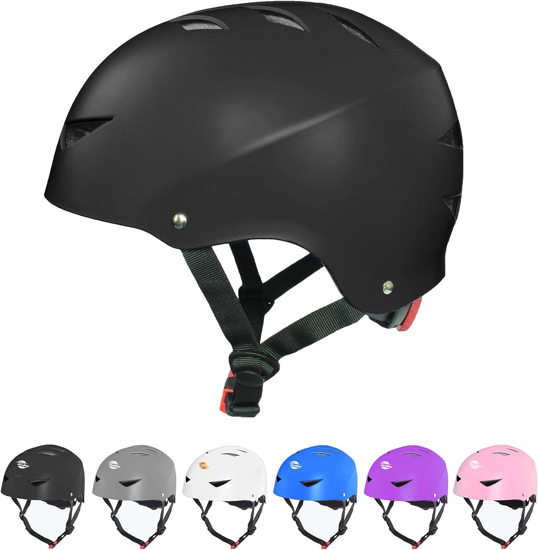 Bavilk Skateboard Bike Helmets Multi Sports Scooter Inline Roller Skating 3 Sizes Adjustable for Kids Youth Adults