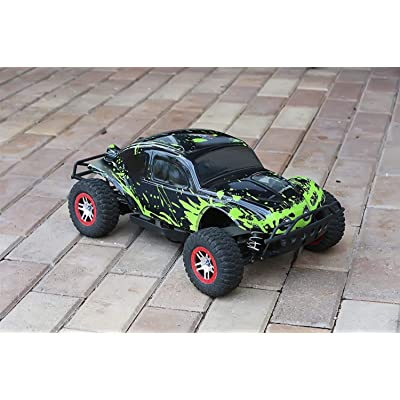 SummitLink Compatible Custom Body Muddy Green Over Black Replacement for Traxxas 1/10 Slash 4x4 VXL 2WD Slayer RC Car or Truck (Truck not Included) SSB-BG-03: Toys & Games