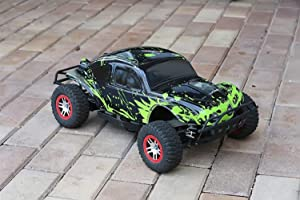 SummitLink Compatible Custom Body Muddy Green Over Black Replacement for Traxxas 1/10 Slash 4x4 VXL 2WD Slayer RC Car or Truck (Truck not Included) SSB-BG-03