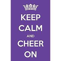 Damdekoli Keep Calm Cheerleading Poster, Cheer Artwork, 11x17 Inches, Girls Room Wall Art Print, Gymnastics