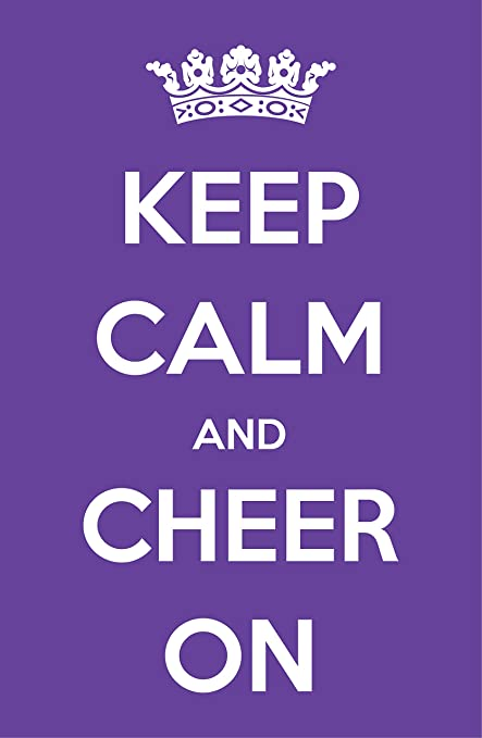 7911352dfa Amazon.com: Damdekoli Keep Calm Cheerleading Poster, Cheer Artwork, 11x17  Inches, Girls Room Wall Art Print, Gymnastics: Posters & Prints