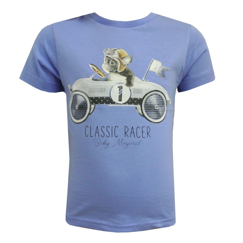 blau 1009b T-Shirt Kurzarm Baby Jungen Classic Racer Mayoral