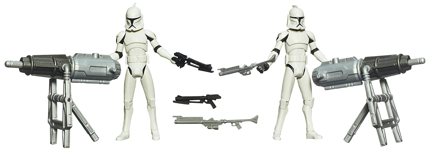 Amazon.com: Star Wars The Clone Wars: Turbo Tank Support Squad Figures: Toys & Games