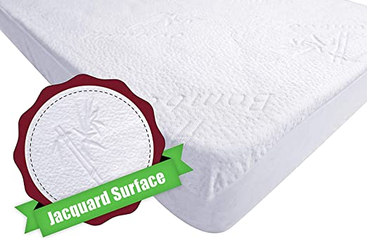 Soft 100/% Hypoallergenic Bamboo Waterproof Crib Mattress Cover/… Stylish and a for Cribs /& Toddler Beds 2-Pack Ultra Soft Crib Mattress Protector by Dellabella Breathable Quiet