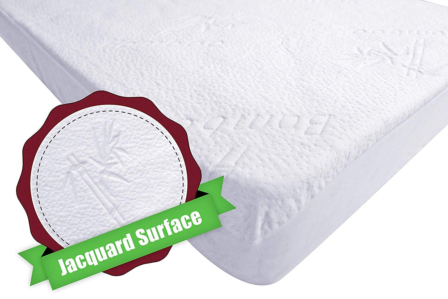 iLuvBamboo Crib Mattress Pad Protector - Waterproof Cover - Soft Natural Bamboo Jacquard Fitted Topper - Noiseless, Breathable & Hypoallergenic - Best Baby Gifts for Potty Training Toddlers & Infants by I LUV BAMBOO