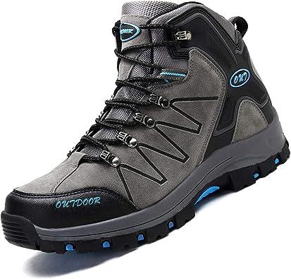 Ikeyo Zapatos de Senderismo para Hombre Impermeables Botas de ...