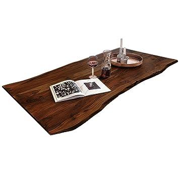 Sam Tischplatte 200x100 Cm Akazie Massiv Nussbaumfarben Stilvolle